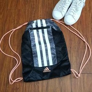 NWOT Adidas Gym Sack Black/Peach Drawstring